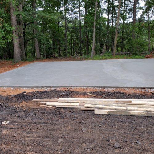 concrete slab for rv parking pad